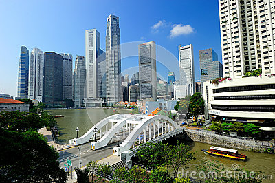 The Singapore River Editorial Image