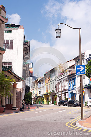 Singapore s Chinatown Street Editorial Stock Photo