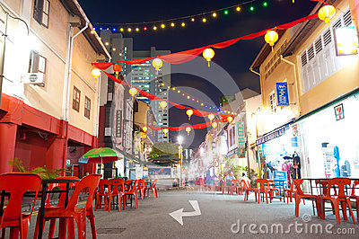 Singapore s Chinatown Street Editorial Photography