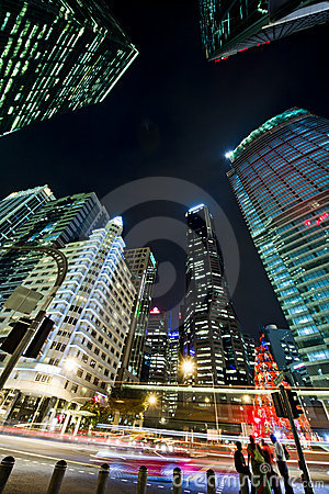 Singapore s Financial District Editorial Photography
