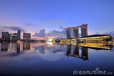 Singapore s Majestic Marina Bay Editorial Stock Image