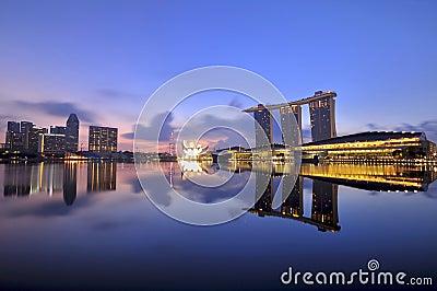 Singapore s Majestic Marina Bay Editorial Stock Image