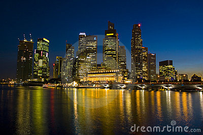 Singapore s Skyline by Night