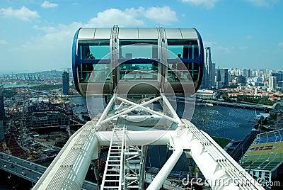 Singapore: Singapore Flyer Gondola Editorial Photo