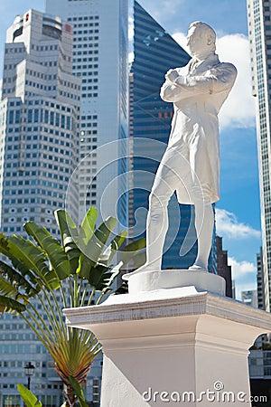 Singapore. Sir Raffles statue