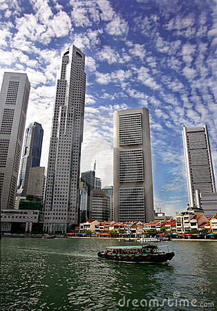 Free Singapore Skyline Royalty Free Stock Photo - 1989015