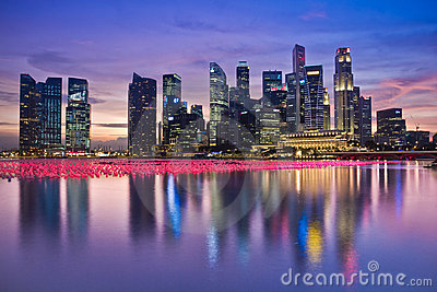 Singapore Skyline Editorial Stock Image