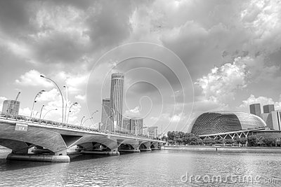 Singapore skyline Editorial Stock Photo