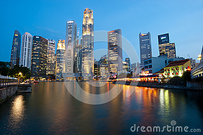 Singapore skyline Editorial Image