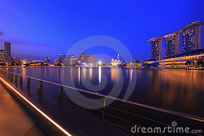 Singapore Skyline and Reflections