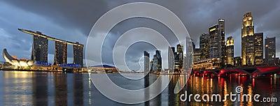 Singapore skyline and river