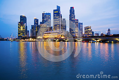 Singapore Skyline at Twilight