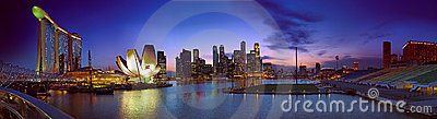 Singapore Twilight Landscape Editorial Image
