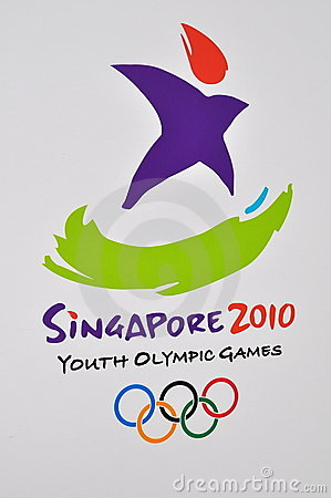 Singapore Youth Olympic Games logo Editorial Image