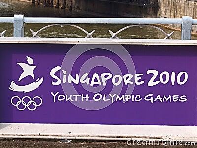 Singapore Youth Olympics 2010 Editorial Stock Image
