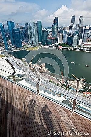 Singapur-Skyline Redaktionelles Stockfoto