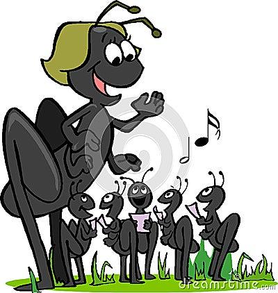 Singeing ants