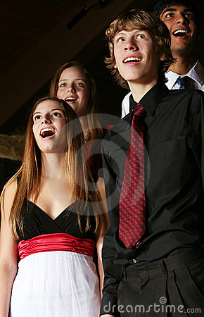 Singender Teenager