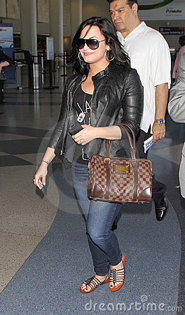 Singer actress Demi Lovato at LAX airport Editorial Photo