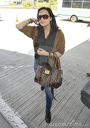 Singer actress Demi Lovato at LAX airport Editorial Image