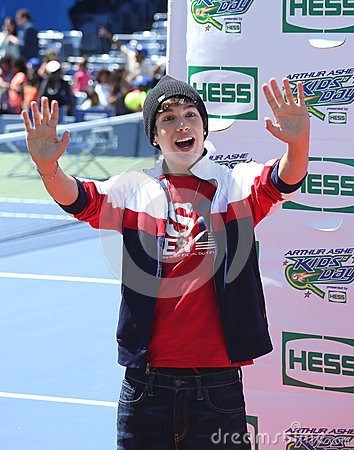 Singer Austin Mahone attends Arthur Ashe Kids Day 2013 at Billie Jean King National Tennis Center Editorial Stock Photo