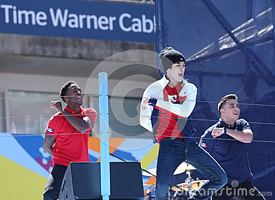Singer Austin Mahone performs at the Arthur Ashe Kids Day 2013 at Billie Jean King National Tennis Center Editorial Photography