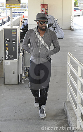 Singer Black Eyed Peas WILL.I.AM at LAX Editorial Stock Image