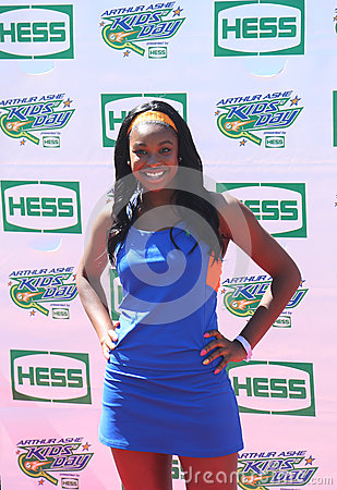 Singer Coco Jones attends Arthur Ashe Kids Day 2013 at Billie Jean King National Tennis Center Editorial Image