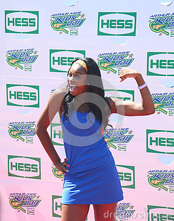 Singer Coco Jones attends Arthur Ashe Kids Day 2013 at Billie Jean King National Tennis Center Editorial Photography