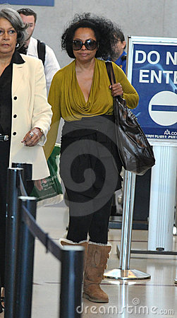 Singer Diana Ross seen at LAX Editorial Stock Image