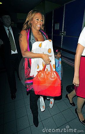 Singer Mel B at LAX airport Editorial Stock Photo