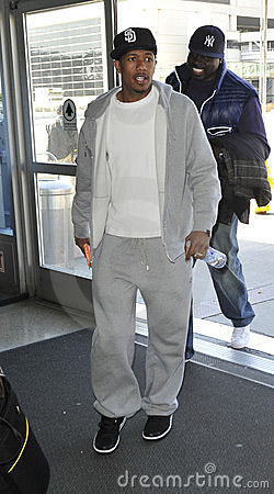 Singer NIck Cannon at LAX airport Editorial Image