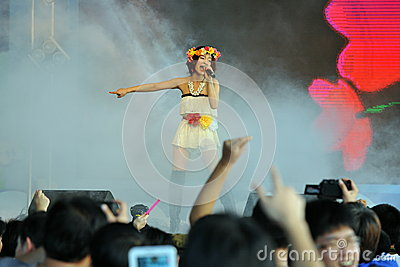 Singer at the Thai-Japan Anime and Music Festival Editorial Photography