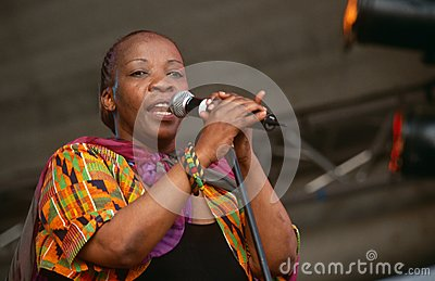 A singer performing at a concert in South Africa Editorial Photography