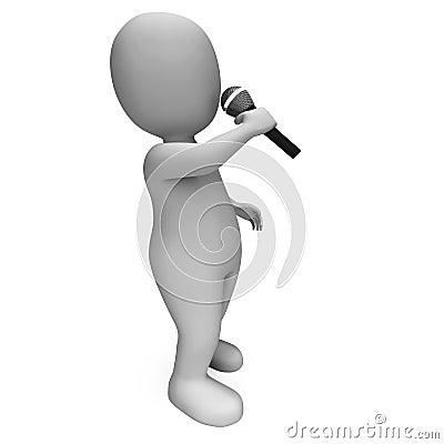 Singer Shows Music Song Or Karaoke Talent Concert