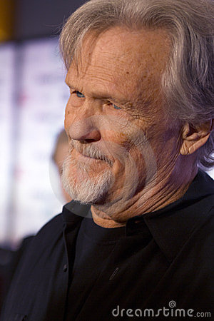 Singer Songwriter Actor Kris Kristofferson Editorial Photography