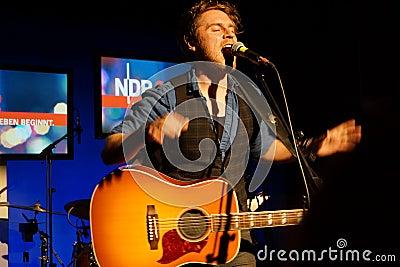 Singer-Songwriter Johannes Oerding Editorial Stock Image