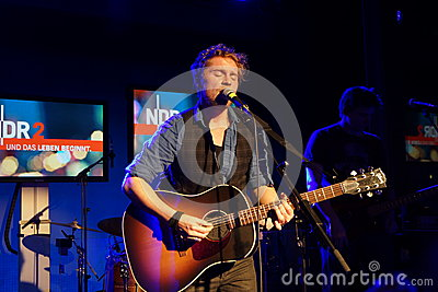Singer-Songwriter Johannes Oerding Editorial Stock Photo