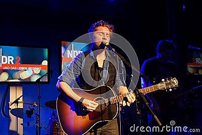 Singer-Songwriter Johannes Oerding Editorial Stock Photo
