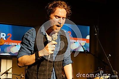 Singer-Songwriter Johannes Oerding Editorial Photo