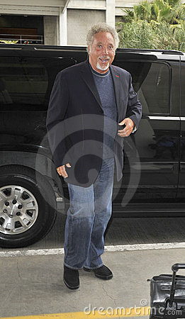 Singer Tom Jones is seen at LAX Editorial Photography
