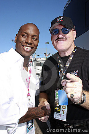 Singer Tyrese and WWE Wrestler Sgt. Slaughter Editorial Photo