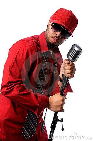Singer With Vintage Microphone