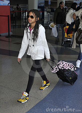 Singer Willow Smith at LAX airport, california Editorial Stock Image