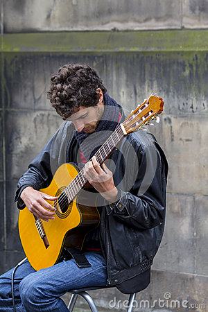 Singers and musicians at the Fringe Festival, Edinburgh, Scotland. Editorial Stock Photo