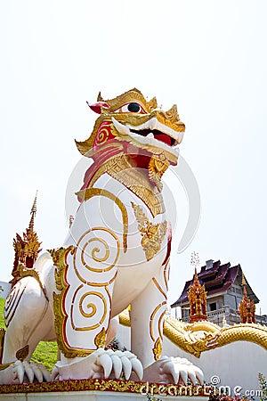 Singha Thai statue model