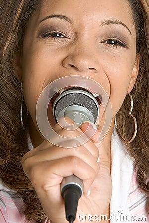 Free Singing Black Woman Stock Images - 4225244