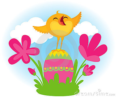Singing Easter chick