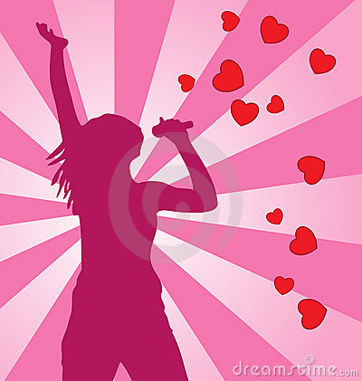Singing female.