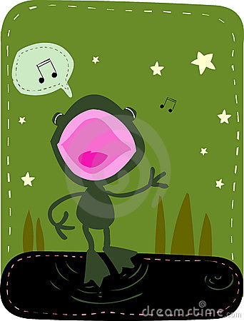 Free Singing Frog Stock Image - 1137771